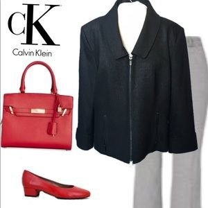 Calvin Klein Zip Front Unstructured Jacket